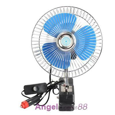 """Auto Car Fan Vehicle RV Dashboard Portable 8"""" Clip-On Oscillating 12V Cooling"""