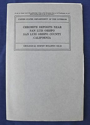 USGS CALIFORNIA CHROME MINES in SISKIYOU Co CA RARE 1940
