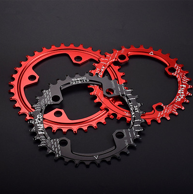 FMF MTB bike narrow wide round oval chainring chain ring BCD 96mm 32/34/36/38T
