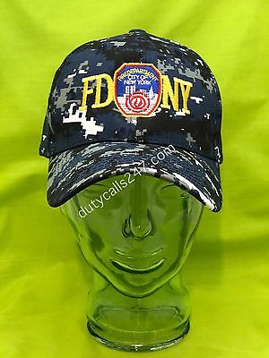 7313602c03c NEW Embroidered FDNY 9 11 Memorial New York Fire Digital Blue Navy Camo Hat  Cap