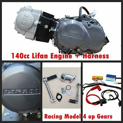 140cc Lifan Race Engine Motor Atomik Nitrous Reign Bigfoot + Wiring Loom Harness