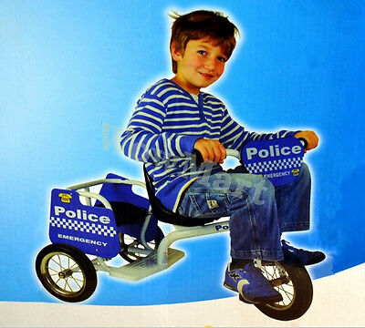 NEW Lux. Kid Ride-on Toy 2-seater  Trike Tricycle  - Police Car (#A16 )
