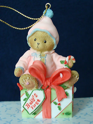 Cherished Teddies Ornament (Avon) - Baby's First Ornament Girl - 4012239 - 2008