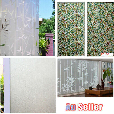 Waterproof PVC Window Film Privacy Static Cling Vinyl Sticker Glass Film 90CM*5M