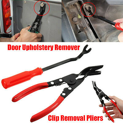 2 Pcs Door Panel Trim Clip Car Removal Pliers And Door Upholstery Remover Tool