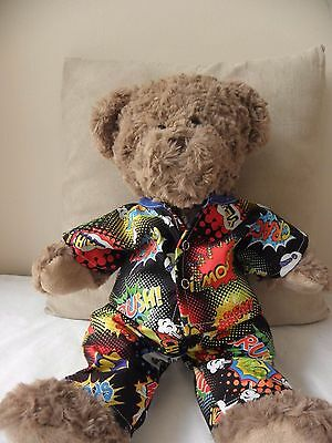 Print pyjamas to fit Pumpkin Patch teddy bear boys  15 inch BAB