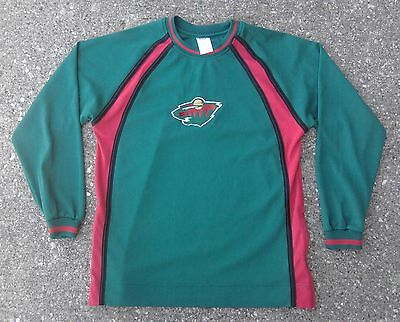 reputable site f21ec d4916 MINNESOTA WILD JERSEY Style Shirt Youth Boys 14/16 NHL Hockey Green Long  Sleeve