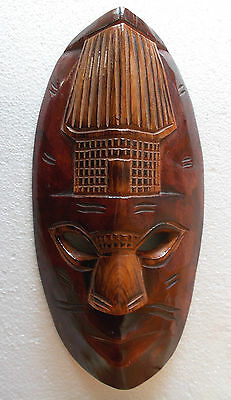 Pacific Islands Mask 30.5cm - Handcarved Wall Hanging Woodcarving - shark Fiji