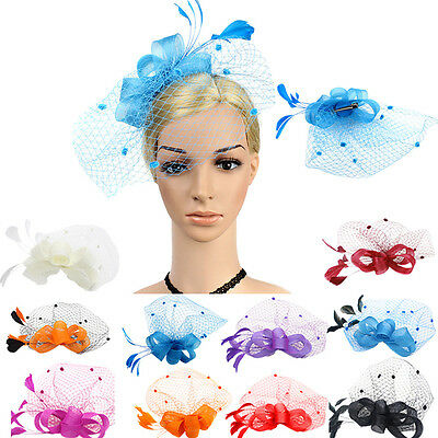 Women's Sinamay Fascinator Occasion Wedding Hat Party Derby Cocktail Hat Fashion