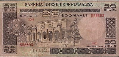 Somalia , 20/- , 1980 , P 27 , Series X003 , Circulated Banknote