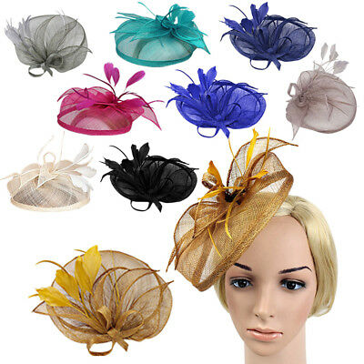 Ladies Headband Clip Sinamay Head Fascinator Occasion Wedding Cocktail Hat