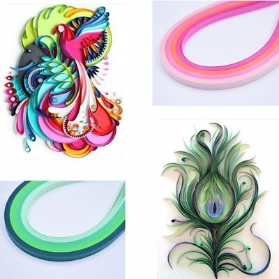600pcs 5mm Cute Art Quilling Paper Strips Decor Tool For DIY Craft 30 Colours