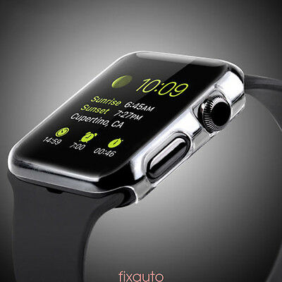 Clear Case Cover Snap on Screen Protector Film for Apple Watch iWatch 38mm fo12