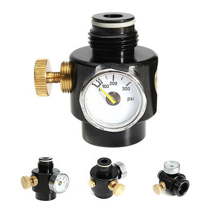 Paintball CO2 Compress Air Pressure Regulator Max Input 1500psi Output 0-200psi
