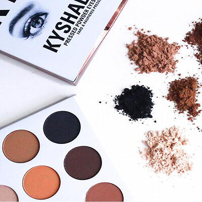 New 9 Colors Eye Shadow Make Up Cosmetic Shimmer Matte Eyeshadow Palette Set CN