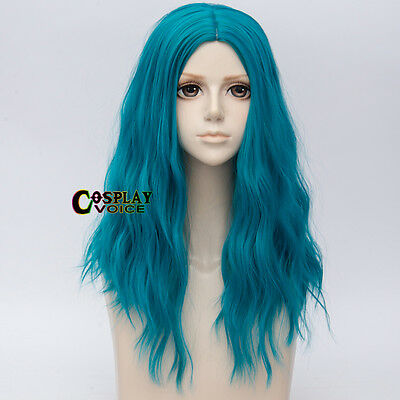 Long Curly 50CM Lake Green Hair Harajuku Lolita Halloween Ombre Cosplay Wig