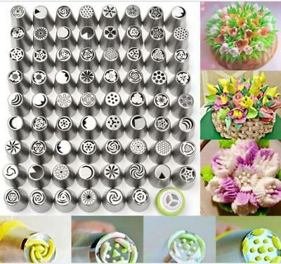 17/34/52pcs Stainless Steel Russian Piping Tips Cupcake Flower Icing Nozzles OZ