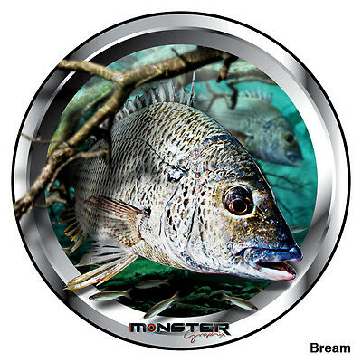 2 X Bream - Monster Graphix Stickers (15cm Diameter each)