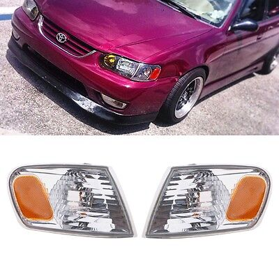 2 Pcs Corner Park Lamp Light Set Left & Right For 2001 2002 TOYOTA COROLLA