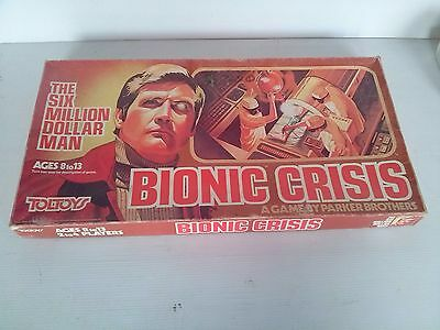 The Six Million Dollar Man Bionic Crisis Board Game. Fully Complete