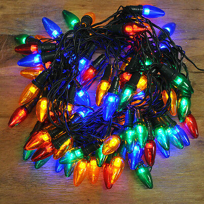 80 LED Multi Colour Multi-Action Large Bulb String Lights (Mains) by Kingfisher