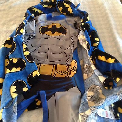 baby boys uv upf 40+ batman swim surfsuit + hooded towel cape 12-18 / 18-23 NEW