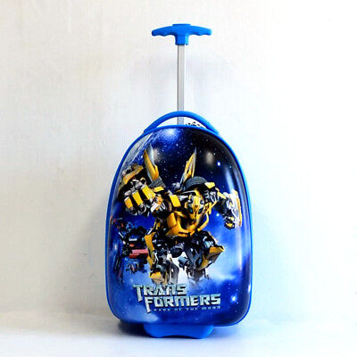 Kid Gift Wheeled Rolling Suitcase Travel Bag Luggage Trolley 16'' Transformers A