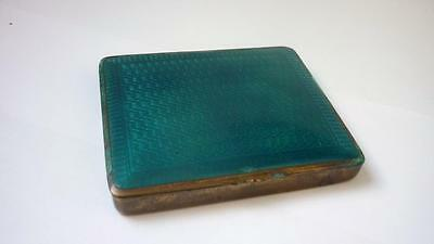Guilloche Enamel Copper Box 20th century