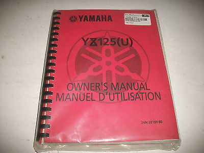 Nos Unused 1988 Yamaha Yz125(U)  Motorcycle  Service Shop Manual  Brand New