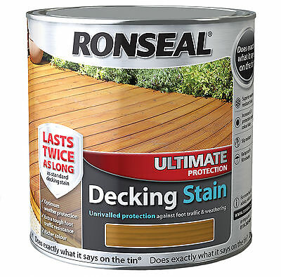 Ronseal Ultimate Protection Decking Stain 2.5L & 5L - In 13 Natural Colours