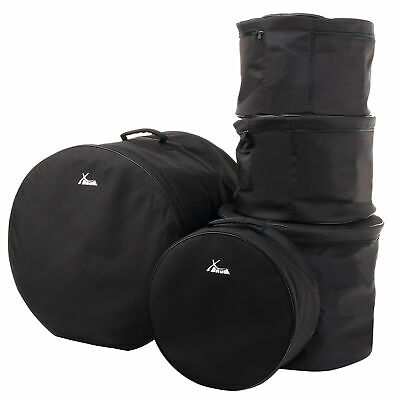 5x Drum Kit Gig Bags Standard Set Percussion Toms Snare Bassdrum Protection Case