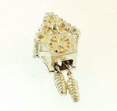 Sterling Silver Movable Cuckoo Clock Charm (10x19mm)