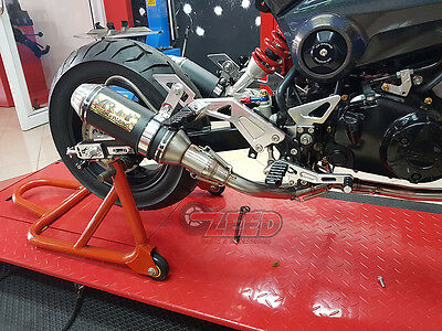 Honda Grom MSX125 Aodonly Double Low Mount Exhaust 2013 to 2019 MSX 125