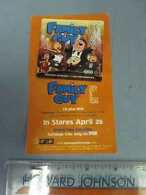 Family Guy 2005 Live in Las Vegas Promo Magnet New Old Stock Flawless Condition