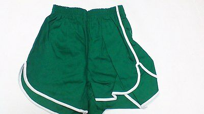 Vintage 60'S Russell Athletic 100% cotton gym Short Kelly GREEN MADE IN THE USA