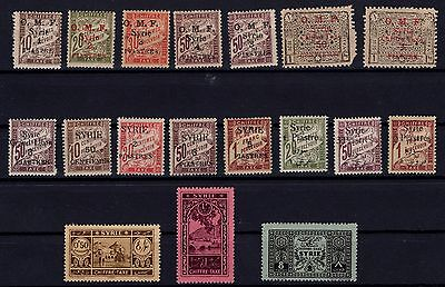 P37096/ Syrrie / Syrria / Postage Due / Lot 1920 - 1931 Neufs * / Mint Mh 106 €