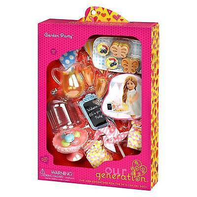 """Our Generation 18"""" Doll Garden Party Cookie, Lemonade Accessory Set NEW"""