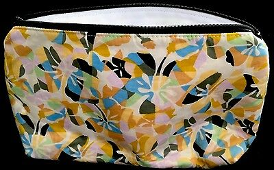 Handmade Lawn Cotton Toilette Bag . Multi Water Resistant Lining.