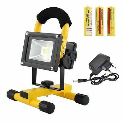 10W White Rechargeable Portable Outdoor Camping LED Flood Light Spot Work Lamp