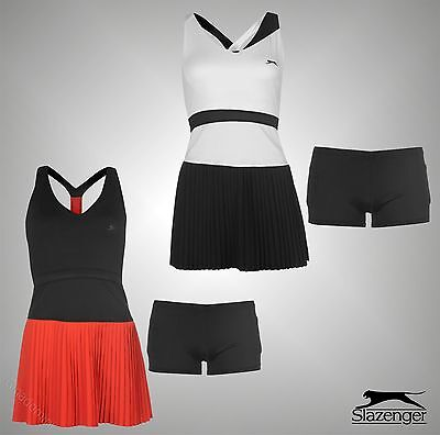 Ladies Branded Slazenger Training Deep V Neck Baseline Sports Tennis Dress