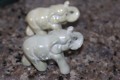 Vintage Lustreware twin elephants made in Japan