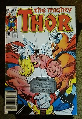 The Mighty Thor #338 2nd Beta Ray Bill Marvel newsstand Movie appearance rumor
