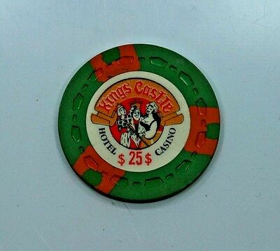 Kings Castle***lake Tahoe***1969-1974**obsolete Gaming Chip**$25.00 Denomination