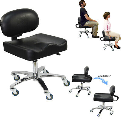 ErgoStrad Ergonomic Adjustable Back Support Artist Technician Stool Studio Chair