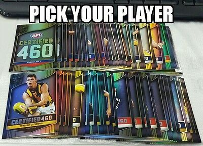 2017 AFL Select Certified 460 card pick your player