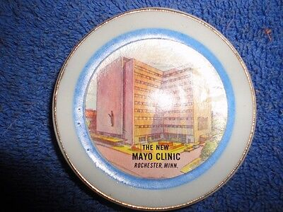Vintage Miniature COLLECTOR PLATE - New MAYO Clinic - 2 1/2 Inch - Japan