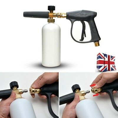 1L High Pressure Washer Gun Snow Foam Lance Sprayer Bottle Cleaning+Handholder