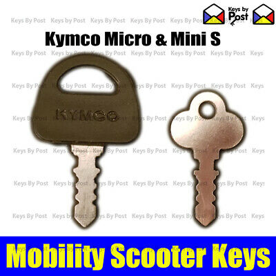 Spare Mobility Scooter Key Kymco Elite Zeo or Days Mini and Micro S ForU Model