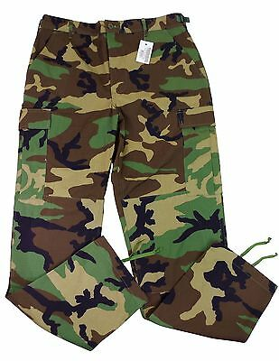Camouflage Military Issue Pants Trousers Woodland Combat US Army Hot Weather