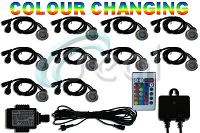 10 x 40mm LED Deck/decking lights Multicolor RGB Colour Changing  Kitchen Plinth